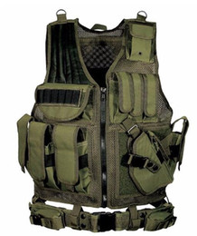 Chinese  New Black Army CS Tactical Vest Paintball Protective Outdoor Training combat camouflage molle Tactical Vest 3 colors manufacturers