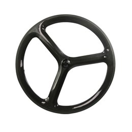 Chinese  Hulkbike 3 spoke track bike wheelset carbon fiber bicycle wheels Fixed Gear bicycle parts clincher wheelset customized bicycle component manufacturers