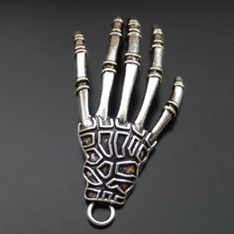 14k jewelry findings UK - 10PCS Antique Silver Alloy Devil Hand Charm Pendant Jewelry Finding 43mm 39900 jewelry making