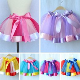 Robes De Ballet De Danse Enfantine Pas Cher-Tutu Jupes Robes Kids 2016 Hot Sales Newborn Toddler Baby Girl Enfants Danse Tulle Tutu Jupes Pettiskirt Dancewear Ballet Dress