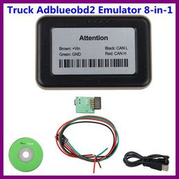 Discount renault man Truck Adblueobd2 Emulator 8-in-1 With Programming Adapter For Mercedes MAN Scania IVECO DAF Volvo Renault and Ford Free Shipping