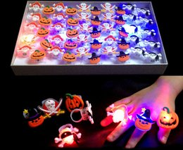 $enCountryForm.capitalKeyWord NZ - Halloween Party LED Soft Jelly Glowing Decorative Finger Rings Light Flashing Birthday Kids Children Light-up Toys With Retail Box 001#