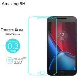 """Discount screen g4 - Wholesale-0.26mm 9H Tempered Glass Protective Flim for Motorola Moto G4 & Moto G4 Plus (5.5""""inch)  Hardness Scr"""