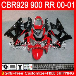 $enCountryForm.capitalKeyWord Australia - Body For HONDA CBR 929RR CBR900RR CBR929RR 00 01 CBR 900RR TOP Red black 67NO14 CBR929 RR CBR900 RR CBR 929 RR 2000 2001 Fairing kit 8Gifts