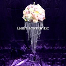 Discount Acrylic Crystal Wedding Table Centerpiece Best Romantic 80cm Tall