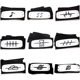 Finish bands online shopping - Naruto Forehead Band Anime Cosplay Costume Prop Accessories Comic Konoha Kakashi Akatsuki Members Headband High Quality xy WW
