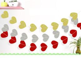 $enCountryForm.capitalKeyWord Canada - Love Heart Shape Paper Garlands 4M Glitter Powder Bunting Wedding Party Banner Hanging Pull Flowers Shower Room Door Curtain Decoration
