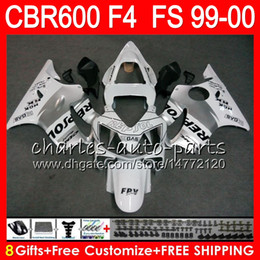 99 cbr f4 fairings repsol Australia - 8Gifts 23Colors Bodywork For HONDA CBR 600 F4 99-00 CBR600FS FS 30HM6 Repsol white CBR600 F4 1999 2000 CBR 600F4 CBR600F4 99 00 Fairing Kit