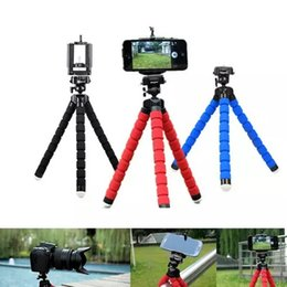 camera stands for phones 2018 - Flexible Tripod Holder For Cell Phone Car Camera Gopro Universal Mini Octopus Sponge Stand Bracket Selfie Monopod Mount
