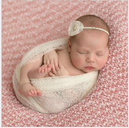 Newborn Photography Props Blanket Rayon Stretch Knit Swaddling Newborn Hammock Swaddlings Padding Nubble Blanket Baby Bedding Mother & Kids