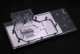 water cooling blocks 2019 - Wholesale- Bykski N-GX1080-X Full Cover Graphics Card Water Cooling Block 0.5MM micro channel design for Pascal GTX TITA