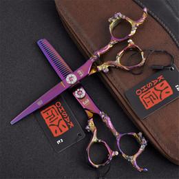 Professional barber scissors sale online shopping - Inch hair scissors japanese hairdressing scissors thinning shears sale hair sissors professional barber scissors set ciseaux