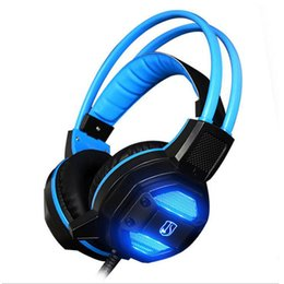 new pc gadgets 2019 - Wholesale- New USB Gadgets GX1 Gaming Headphone Hifi Stereo Wired Light Headset Speakers Stereo Bass Earphone with Micro
