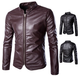 Korean Motorcycle Jacket Australia - 2017 New high-end self-cultivation motorcycle Men's Outerwear & Coats jacket Korean trend Men's Leather & Faux Leather Y666