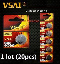 $enCountryForm.capitalKeyWord NZ - 20pcs 1 lot CR2032 3V lithium li ion button cell battery CR 2032 3 Volt li-ion coin batteries VSAI Free Shipping