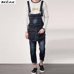 Blue Plus Size Jumpsuit Australia - Wholesale-Men's Bib Jeans 2016 New Casual Front Pockets Blue Denim Overalls Boyfriend Jumpsuits Male Suspenders Jeans Size M-XXL