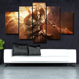 beautiful homes paint pictures NZ - 5 Pcs Set HD Picture Canvas Print Painting Modern Canvas Wall Art Gift For Home Decoration Beautiful picture#155