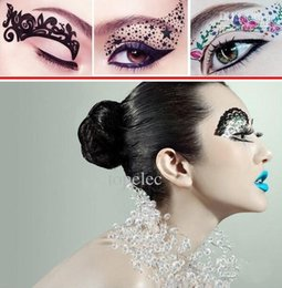 Eye Shadow Candid 3d Rhinestonetemporary Tattoo Eyeshadow Sticker Crystal Eye Rock Glitter Party Maquiagem Beauty Women Dress Eye Shadow Brand New High Quality Goods