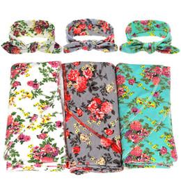 $enCountryForm.capitalKeyWord UK - Cute Baby Blanket Bath Towel Bed Sheet Floral Printed Newborn Blankets Swaddling Baby Wrap Sleeping Bag