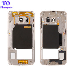 Discount metal siding for houses - 50PCS l Metal Middle Bezel Frame Cover For Samsung Galaxy S6 Edge G925F G925A Single Card Housing with Camera Glass Side