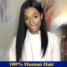Full Laced Wigs Australia - Full Lace Wig Long Hair Silky Straight Wig Owl Human Female Black Weave Density 150 Notre Dame With Brazil, Weave A Wig With The Baby's Hair