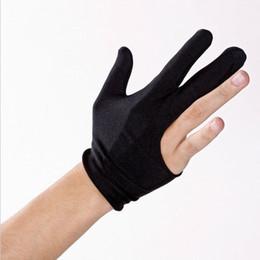 Großhandel Großverkauf 2017 HEISSES Queue-Billard-Pool-Handschuh-Schütze-3 Finger-Snooker-Zusätze, die handschuhe guantes de billar
