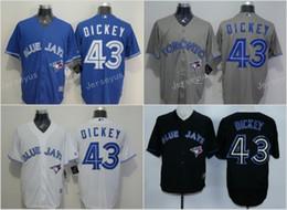 1fcfa072708 ... 2017 Flexbase Toronto Blue Jays 43 R.A. Dickey Home Away Jersey Blue  White Red Grey Black Cheap Mens Youth jersey ...