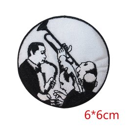 Discount band clothes for - Musical JAZZ band musician embroidered iron-on patch applique for Jacket Jeans Clothing Badge DIY Apparel Accessories