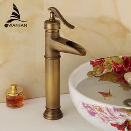 Bathroom Faucet For Sale antique brass waterfall bathroom faucet online | antique brass