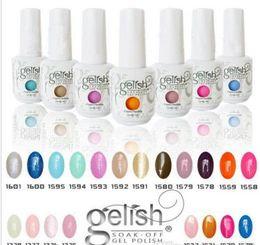 gelish gel nail polish colors 2019 - 2017 Top quality Harmony Gelish nail polish 440 Colors 15ml Gel Polish UV Color Gel Soak Off base Gel top it off matte f
