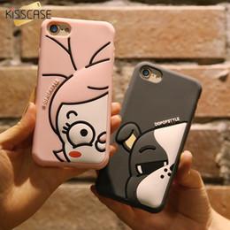$enCountryForm.capitalKeyWord Canada - KISSCASE Cute Cartoon Silicone Case For iPhone 6 6s 7 Plus Soft Silicon Cover For iPhone 7 6 6s Plus Coque Duck Puppy Case Capa