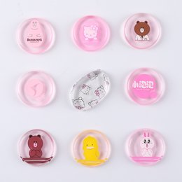 latex free makeup Australia - Cute Cartoon Silicone Makeup Sponges Silisponge Blender Set Blending Powder Smooth Puff Beauty Foundation Latex Free Sponge transparent