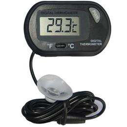 2017 new LCD Digital Fish Tank Aquarium Thermometer Temperature Water Terrarium Black Aquariums Aquariums & Fish free shipping on Sale