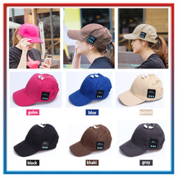 $enCountryForm.capitalKeyWord Australia - Hot Wireless Bluetooth Headphone Sports Baseball Cap Canvas Sun Hat Music Handsfree Headset with Mic Speaker for Smart Phone with Retail Box