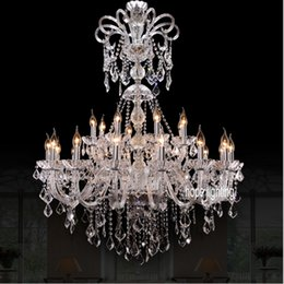 modern crystals Australia - modern living room bar Crystal Chandelier hotel hall chandelier lighting residential lighting LED bedroom candelabra lamps glass chandeliers