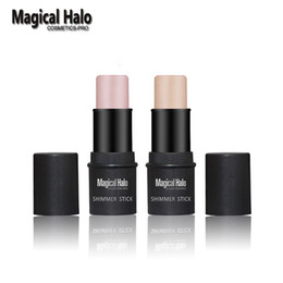 Wholesale pc Brand New Magical Halo PRO Face Series Shimmer Stick Whiten Brighten Highlighter Contour Concealer Silver Bronzer D Makeup