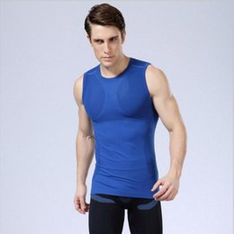 Barato T Shirts Músculos-Muscle Brothers Men Running Sports Fitness Round Collar Camisa sem mangas Summer Shirt T-Shirtmer Shirt Camisa rápida Shirt