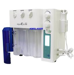 Discount micro peel facial - Korean imported 3 in 1 Hydra microdermabrasion RF micro current Spa Facial Machine Aqua Facial cleaning Machine water Pe