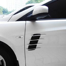 Flow hood online shopping - Car Hood Side Flow Vent Fender Air Net Door Decals Auto Sticker DIY Simulation car shark gills outlet soft ABS plated
