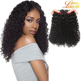 Quality brazilian unprocessed hair online shopping - 100 Unprocessed Virgin Human Brazilian Hair Kinky Curly Natural Color Top Quality Brazilian Kinky Curly Weave Hair Extension Grade A