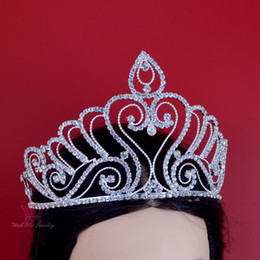 $enCountryForm.capitalKeyWord Canada - Pageant Crowns Large Full Tiaras Gorgeous Princess Bridal Weddind Miss Beauty Pageant Queen Headwear Rhinestone Fashion Jewelry Mo195