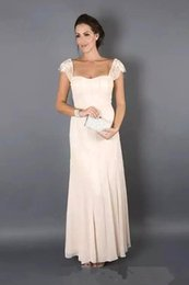 $enCountryForm.capitalKeyWord Australia - 2017 Simple Elegant Lace Chiffon Evening Dress With Jackets Short Sleeve Elegant Mother Of The Bridal Dress Plues Size Party Guest Gown