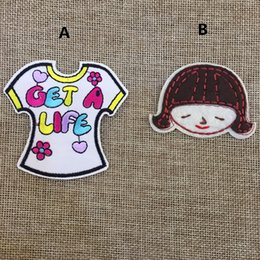 $enCountryForm.capitalKeyWord NZ - Free Shipping~10pcs Lot Girl clothes cartoon Iron On Embroidered Patch Appliques DIY bag clothing patches Applique Badges