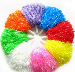 Wholesale Pompon With Hand Shank LaLa Flowers Cheer Cheerleading Supplies Dance Props Ball Multi Color Optional Team Activities hd F