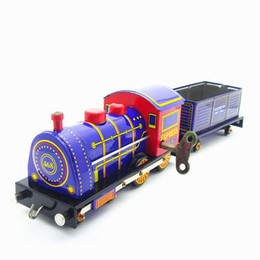Party Decoration Set Kids NZ - Cartoon Winding-upTin Steam Trains, Manual Handcrafts, Nostalgic Toys, Home Accessories, Kid' Party Birthday Gifts, Collectings, Decorations