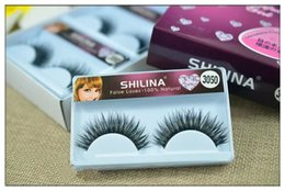 Shilina Faux Cils Pas Cher-SHILINA 3050 Puces aux ongles naturels Finkle 1 paire Long Eyelash High Quality Fake Eye Lashes Extension Band Maquillage Vente en gros
