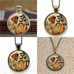 Wholesale 10pcs Butterfly Om Zen Jewelry Yoga Charm Pendant Necklace keyring bookmark cufflink earring bracelet