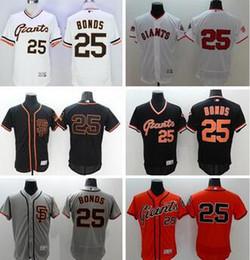 85f6d0f8f ... 2017 Flexbase Stitched San Francisco Giants 25 Barry Bonds White Gray  Black Orange Cream baseball Jersey ...