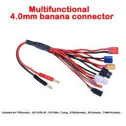 $enCountryForm.capitalKeyWord Canada - Free shipping 4.0mm banana connector to Female Tamiya Futaba TRX EC3 JST XT60 Multifunctional Lipo charger Plug Convert Cable