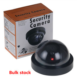 Security dome camera online shopping - Home Security Fake Simulated video Surveillance indoor Outdoor Dummy Led Dome Camera Signal Generator Electrical Hot NEW